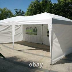 10 X 20 Outdoor Patio Gazebo EZ POP UP Party Tent Wedding Canopy WithSide Walls