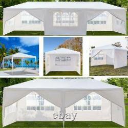 10'x10-30' Canopy Gazebo Easy Pop Up Waterproof Tent Outdoor Wedding Party Tent