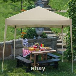 10'x10' Easy Pop Up Canopy Tent with Sidewalls Carry Bag Outdoor Party Gazebo