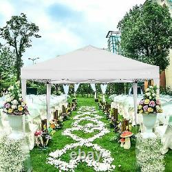 10'x10' Outdoor Canopy Waterproof Wedding Party Tent Gazebo With 4 Side Walls US