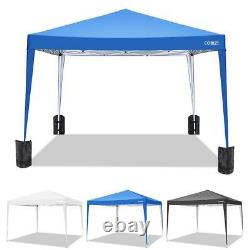 10'x10' Outdoor Pop Up Canopy Tent Instant Adjustable Gazebo Shade Assembly NEW