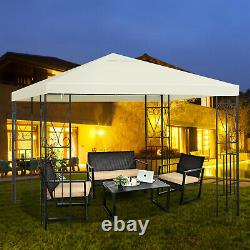 10'x10' Patio Gazebo Canopy Tent Steel Frame Shelter Patio Party Awning