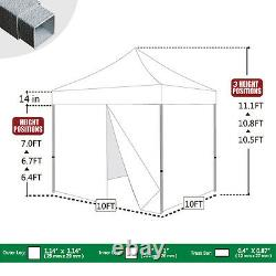 10'x10' Pop Up Canopy Party Tent Outdoor Patio Gazebo Party Tent With4 Side Walls