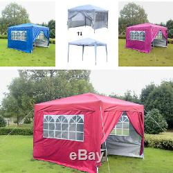 10'x10' Pop Up Canopy Tent with Sidewalls Outdoor Gazebo Party Tent Carrying Bag