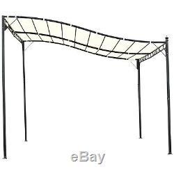 10'x10' Steel Gazebo Canopy Patio Garden Outdoor Steel Cream-white
