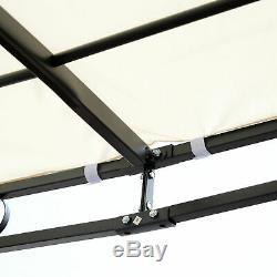 10'x10' Steel Gazebo Canopy Patio Outdoor Portable Sun Shelter Door Porch Cover