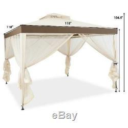10 x12 Gazebo Outdoor Garden Netting Patio Canopy For Party Wedding