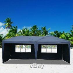 10'x20' Canopy Party Tent Outdoor Gazebo Heavy Duty Wedding PE with Bag 4 Walls