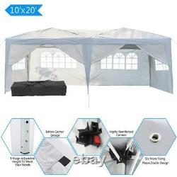 10'x20' EZ Pop-Up Wedding Party Tent Outdoor Gazebo Canopy Pavilion Events Cater