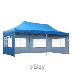 10'x20' Gazebo Wedding Canopy Party Tent Outdoor Pavilion Event Heavy Duty Blue