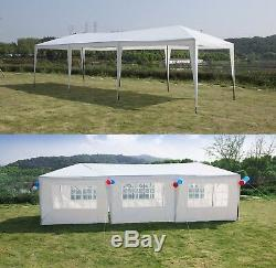 10'x30' Party Tent With 8 Walls Metal Tent Canopy Outdoor Wedding Gazebo White