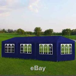 10'x30' Party Wedding Outdoor Patio Tent Canopy Heavy Duty Gazebo Event Blue