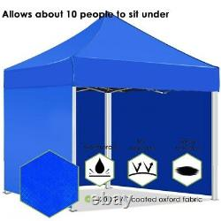 10 x 10FT Commercial Pop UP Canopy Party Tent Folding Waterproof Gazebo Outdoor