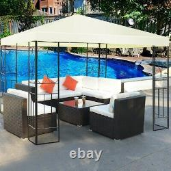 10 x 10 Ft Outdoor Steel Frame Gazebo Shelter with Waterproof Polyester Canopy
