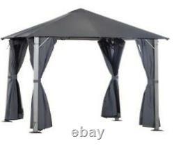 10' x 10' Outdoor Patio Soft Canopy Gazebo Canopy Steel Frame with Sidewall