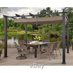 10' x 12' Backyard Pergola Outdoor Steel Patio Gazebo Tent Adjustable Canopy NEW