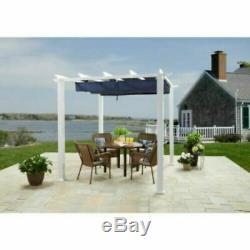 10' x 12' Meritmoor Aluminum Steel Pergola Outdoor Shade Canopy Navy Blue