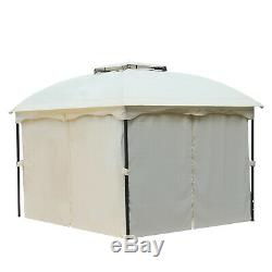 10 x 12ft Outdoor Patio Gazebo Pavilion Canopy Tent Steel 2-tier Roof with