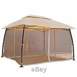 10' x 13' outdoor home backyard garden awnings Patio Gazebo canopy tent netting