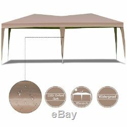 10 x 20 Folding Gazebo Outdoor Wedding Party Market Canopy Tent with Bag