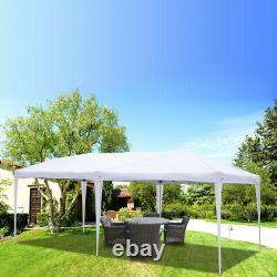 10' x 20' Outdoor Camping Gazebo Party Tent Wedding Canopy with 6 Side Walls