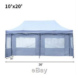 10 x 20'Outdoor Gazebo Party Tent with4 Side Wedding Canopy Walls Cater Events New