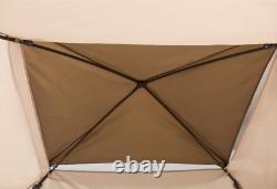10x10-11x11-12x12 Pop-Up Gazebo Tent with Net Carry Bag Outdoor Backyard Party