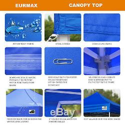 10x10 Blue Gazebo Instant Tent Commercial Pop Up Outdoor Party Beach Canopy
