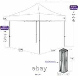 10x10' Commercial Pop up Canopy Party Tent Folding Gazebo Outdoor Shade