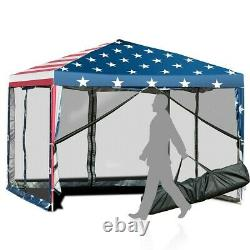 10x10 EZ Pop Up Party Wedding Tent Patio Gazebo Canopy Outdoor Netting Mesh US