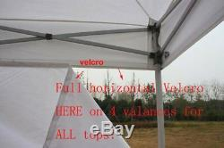 10x10 Gray Outdoor Ez Pop Up Canopy Tent Patio Gazebo +4 Removable Side Walls