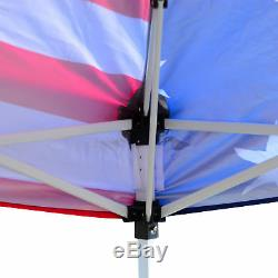 10x10 Outdoor EZ Pop Up Wedding Party Tent Patio Gazebo Canopy Mesh Flag withBag