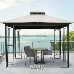10x10 Outdoor Gazebo for Patios Canopy for Shade and Rain with Corner