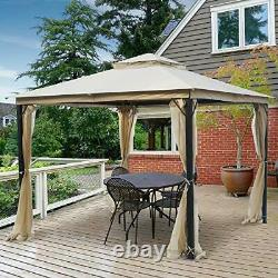 10x10 Outdoor Gazebo for Patios Canopy for Shade and Rain with Mosquito