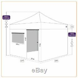10x10 Pop Up Canopy Tent Custom Logo Printed Top Outdoor Gazebo Commercial Tent