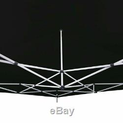 10x10 Pop up Canopy Tent BLACK Outdoor Patio Gazebo Instant Shelter withRoller Bag