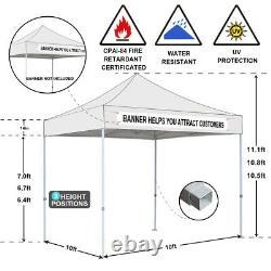 10x10 Pop up canopy tent, Outdoor Canopy Folding Gazebo Wedding Canopy
