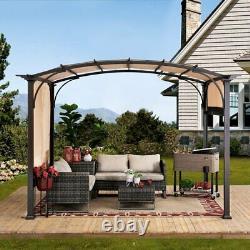 10x11 Metal Pergola Canopy Gazebo Outdoor Patio Garden Arbor Cover Tent Shade