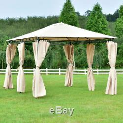 10x13 Gazebo Canopy Shelter Patio Party Tent Outdoor Awning WithSide Walls NEW