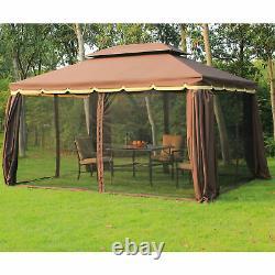 10x13 Outdoor Patio Gazebo Tent Backyard Canopy with Sidewalls Mosquito Netting