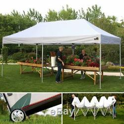 10x20 EZ Pop Up Wedding Party Tent Outdoor Commercial Gazebo Canopy WithN Walls