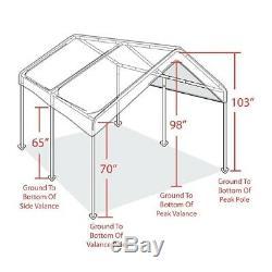 10x20 Outdoor Carport Canopy Car Shelter Frame Garage Cover Tent Portable Gazebo