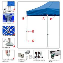 10x20 Outdoor Weeding Party Tent Market Ez Pop Up Canopy Gazebo with Wheeled Bag