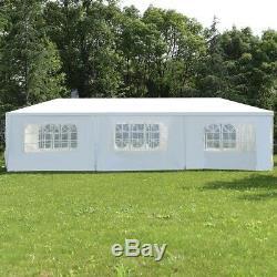 10x30 Outdoor Gazebo Wedding Party Gazebos Side Walls Canopy Tent Steel Frame