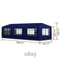 10x30 Steel Party Tent Heavy Duty Canopy Large Outdoor Event Gazebo Cover Shade