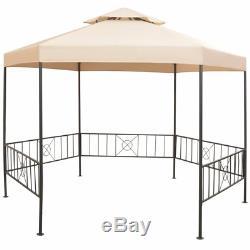 11 Ft. W x 9 Ft. D Steel Patio Outdoor Canopy Tent Gazebo