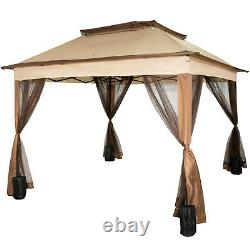 11x11' Outdoor 2-Tier Top Folding Portable Gazebo Vented withNetting Outdoor
