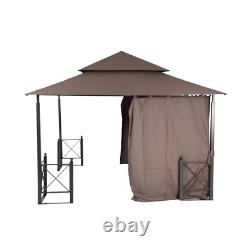 12 Ft. X 12 Ft. Outdoor Patio Harbor Gazebo Canopy with Durable Steel Frame