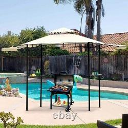 12'x8.5' Outdoor BBQ Grill Gazebo with Bar Counters Double Vented Gazebo Canopy
