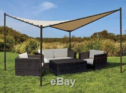 12 x 12 ft Square Pop Up Canopy Outdoor Garden Backyard Gazebo Tent Beige Shade